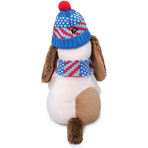 Мягкая игрушка Budi Basa Собачка Бартоломей в вязаной шапке и шарфе, 27 см от Budi Basa
