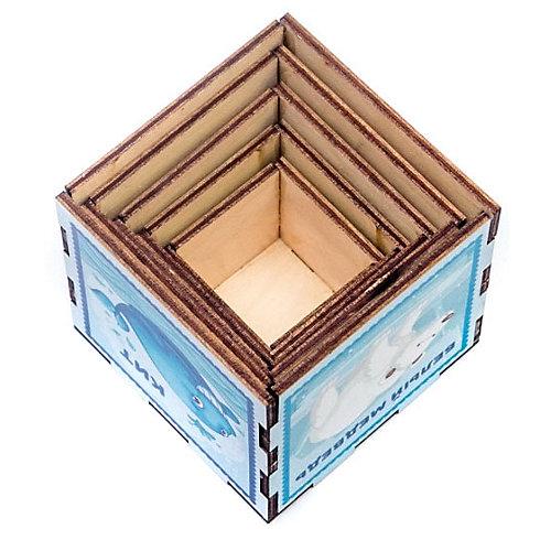 """Сортер-пирамидка WoodLandToys """"Кубики"""" Животные от Woodland"""