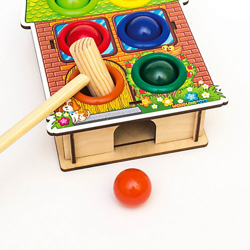 Игра-стучалка WoodLandToys Дом от Woodland