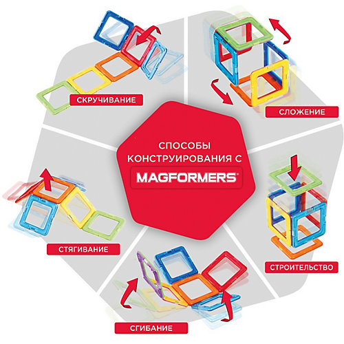 Магнитный конструктор Magformers Transform wheel Set от MAGFORMERS