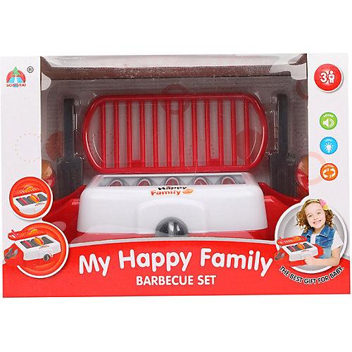 """Плита-гриль Наша Игрушка """"Счастливая семья"""", свет, звук, 8 предметов от Наша Игрушка"""