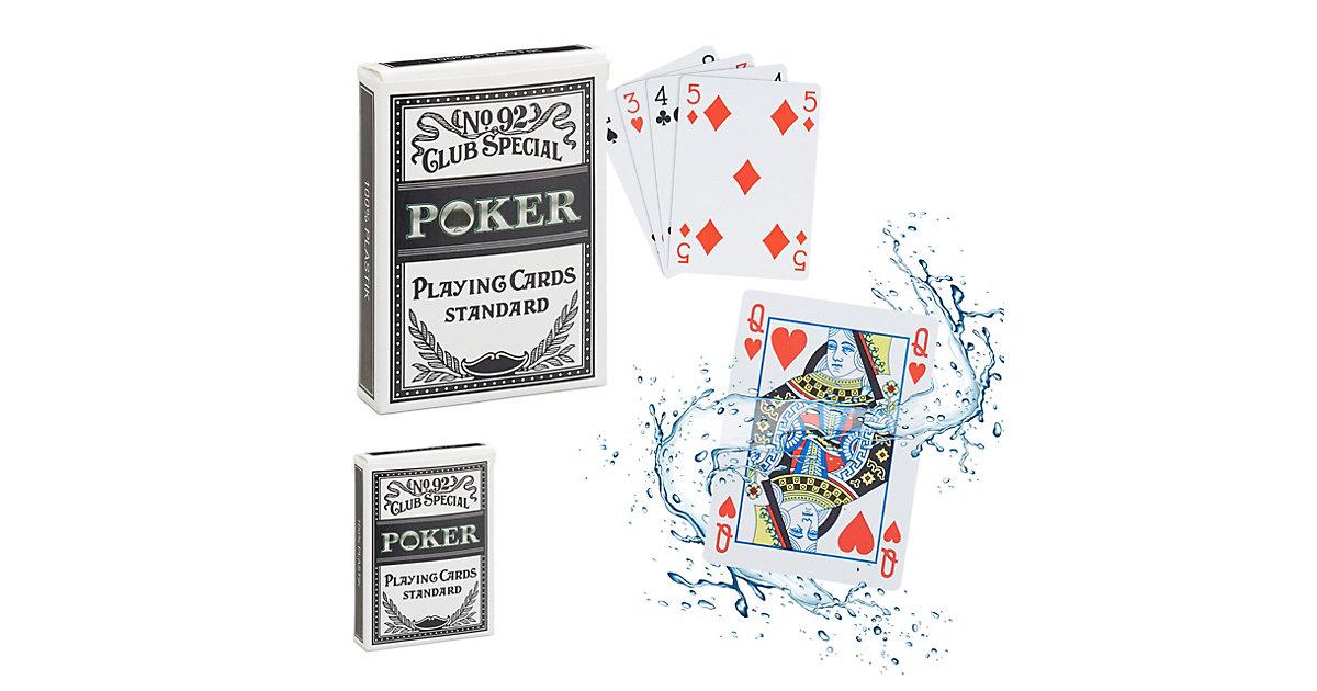2 x Pokerkarten wasserfest Kartendeck Poker Kartenspiel Kunststoff 108 Karten