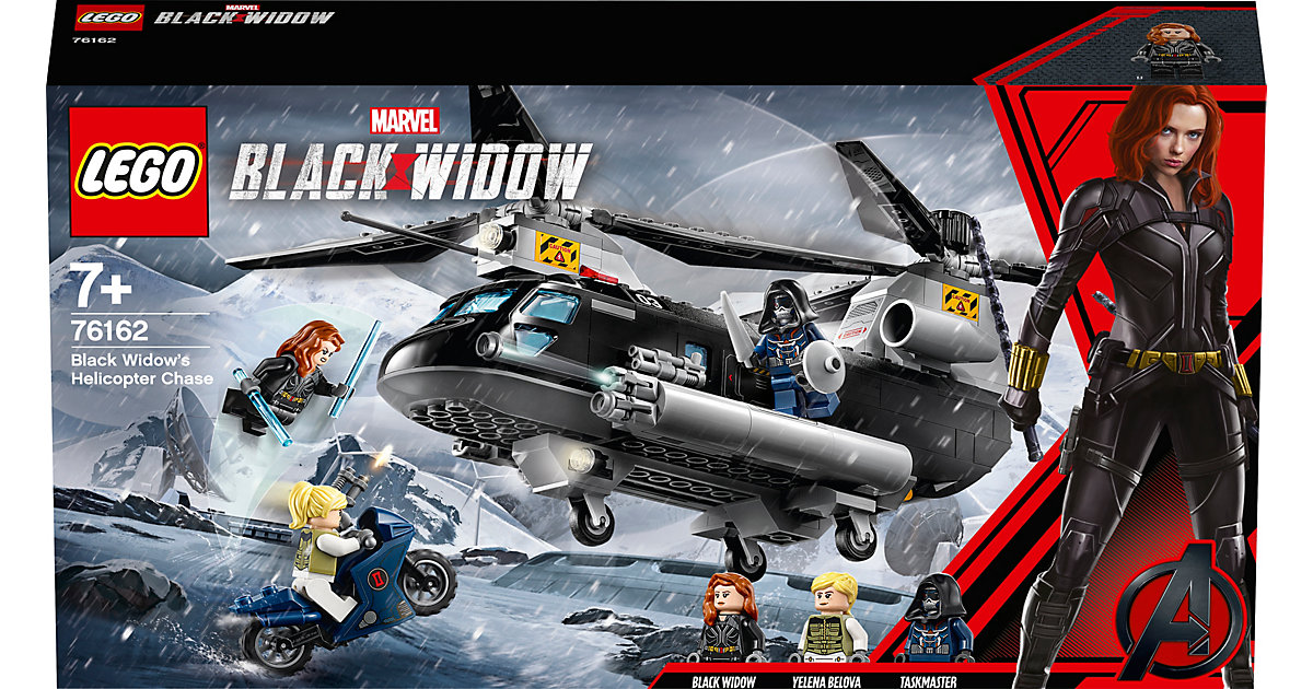 Marvel Super Heroes 76162 Black Widows Hubschrauber-Verfolgungsjagd bunt