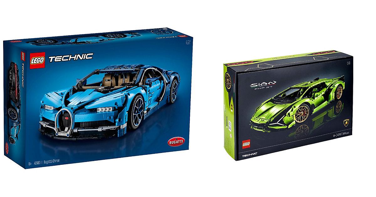 Image of LEGO® Technic 2er Set: 42083 Bugatti Chiron + 42115 Lamborghini Sián FKP 37