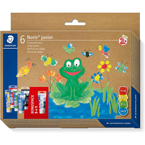 Noris junior Fingermalfarben, 6 Farben