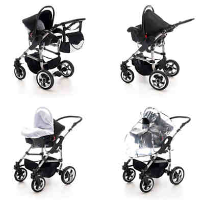 London | 3 in 1 Kinderwagen Set | Hartgummireifen Kombikinderwagen