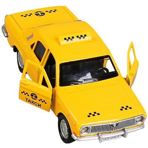 Машинка Технопарк ГАЗ-2401 Волга Такси, 12 см от ТЕХНОПАРК