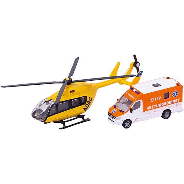 SIKU 1850 Машина скорой помощи и вертолет 1:87
