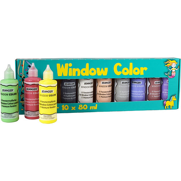 Window Color Superset, 10 Farben inkl. Vorlage