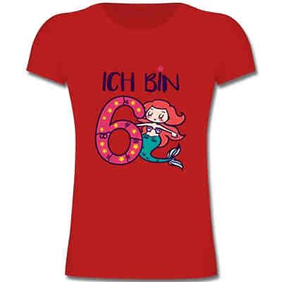 geburtstag kind - ich bin 6 meerjungfrau - mädchen kinder t-shirt t-shirts t-shirts für kinder