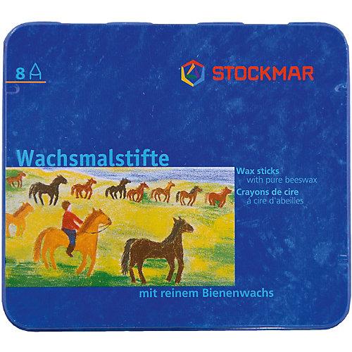 """Мелки восковые пальчиковые Stoсkmar (Штокмар) 8 цветов """"Стандарт"""" от Stockmar"""