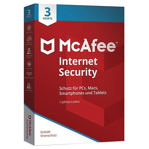 PC Mcafee Internet Security 2021 3 User (Code in a box)