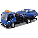 Набор машинок Bburago STR Fire Flatbed Transport