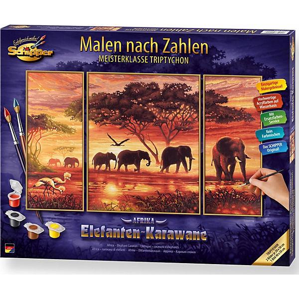 Malen Nach Zahlen Elefanten Karawane Schipper