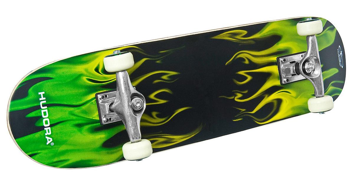 Skateboard mit Rucksack
