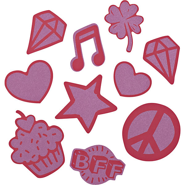 Sticker-Set StickyRicky red, reflektierend