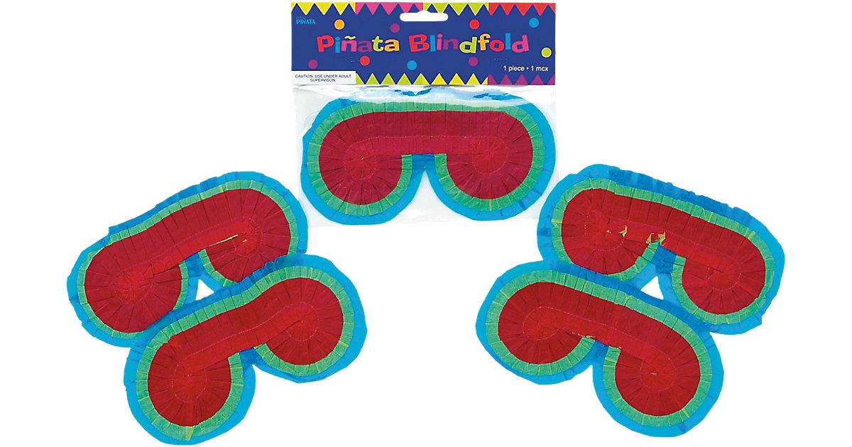 Pinata-Augenbinde blau/rot