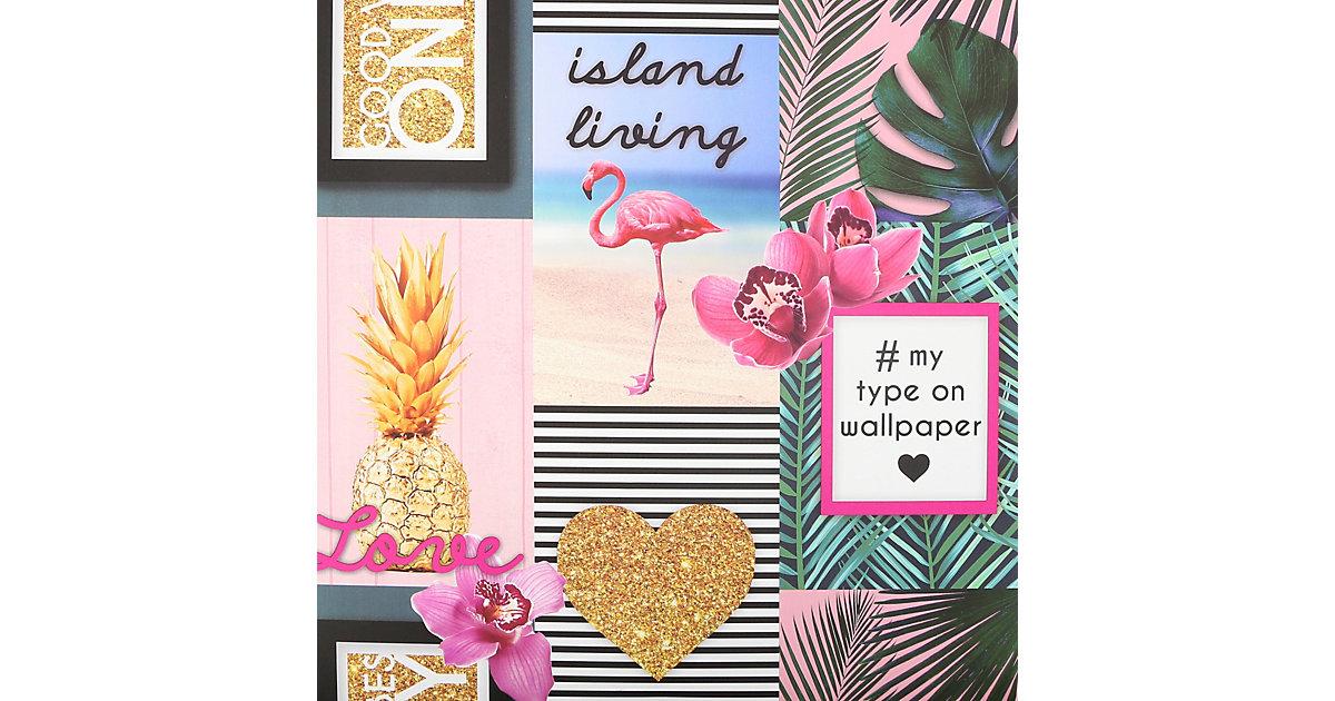 Papiertapete Island Living, 10 m x 53 cm bunt