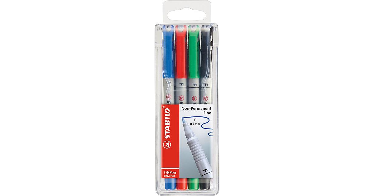 Folienstifte OHPen universal, wasserlöslich, fein, 4 Farben mehrfarbig