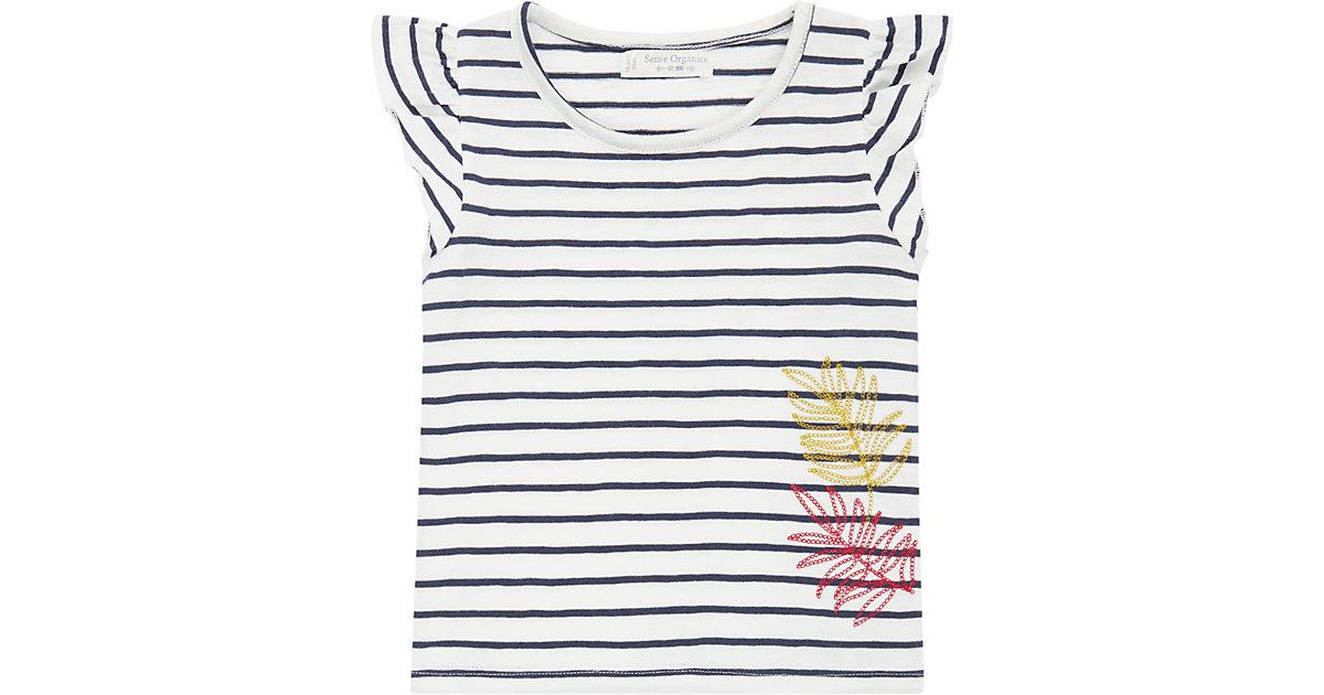 Baby T-Shirt BUTTERFLY , Organic Cotton blau/weiß Gr. 68 Mädchen Baby