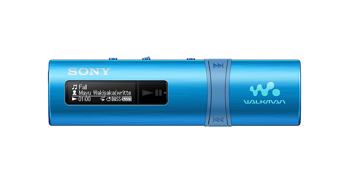 NWZB183, 4GB MP3 Player mit integriertem USB Anschluss in blau