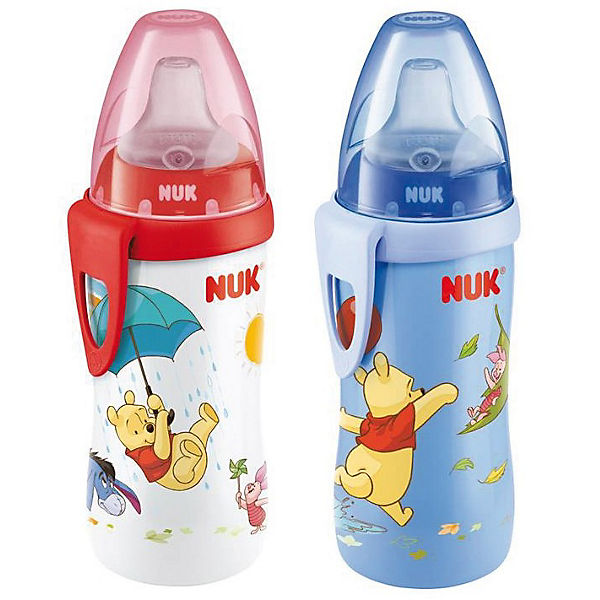 Trinkflasche Active Cup, PP, 300 ml, Silikon-Trinktülle, Winnie the Pooh