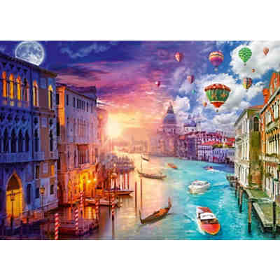 Puzzle L.Stewart Venedig, Night and Day, 1.000 Teile