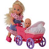 """Кукла """"Еви с малышом на прогулке"""", Simba"""