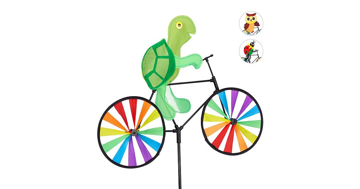 1 x Windrad Schildkröte, Blumenstecker, Gartenstecker, Windrad Kinder, Balkon grün