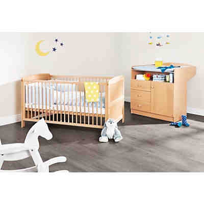 kinderbett wickelkommode sparset bj rn buche pinolino mytoys. Black Bedroom Furniture Sets. Home Design Ideas