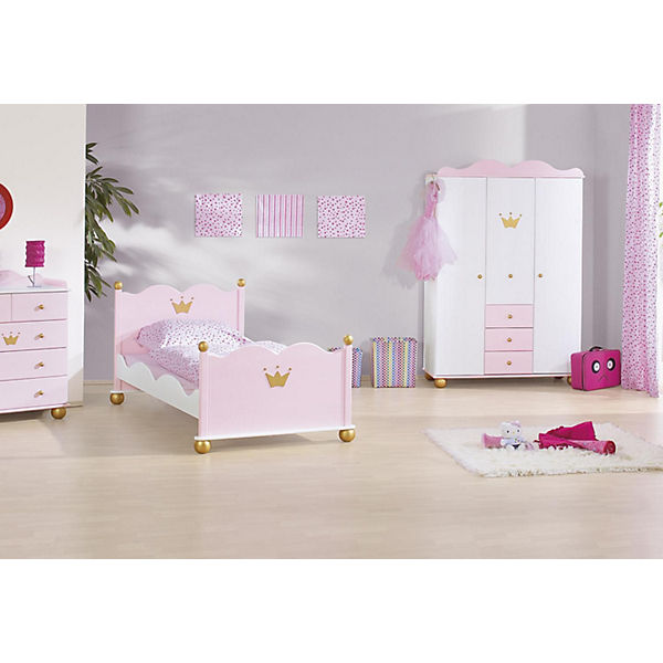 komplett jugendzimmer prinzessin karolin 3 tlg jugendbett kommode und 3 t riger. Black Bedroom Furniture Sets. Home Design Ideas