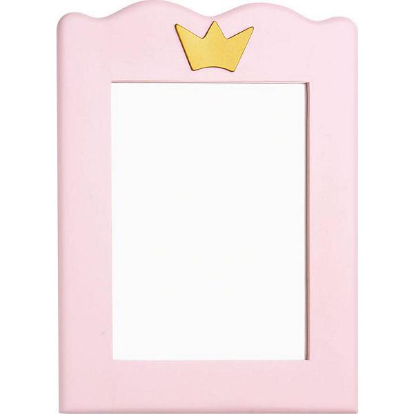 Spiegel PRINZESSIN KAROLIN Fichte massiv Weiß Rosa lasiert
