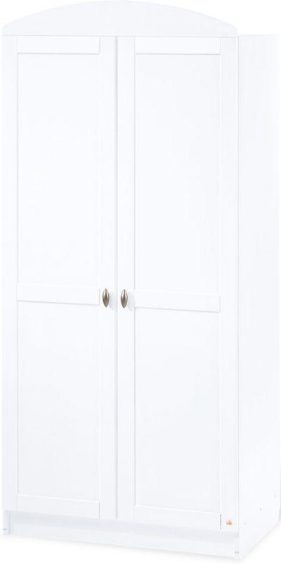 Kleiderschrank JIL 2 türig Kiefer Weiß lackiert Pinolino
