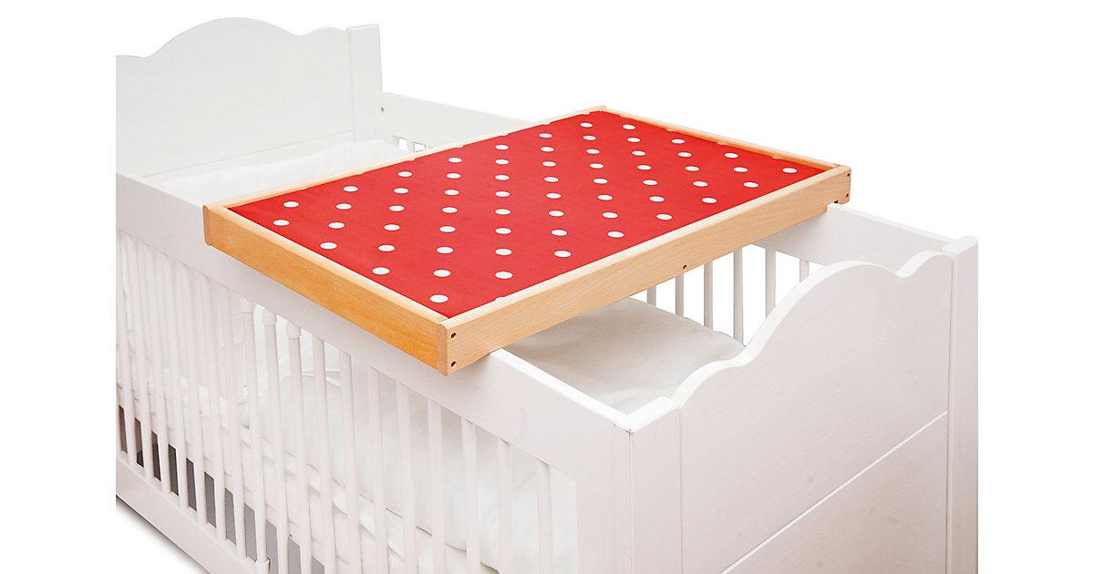 Pinolino · Wickelplatte PIT Kinderbett, Buche massiv mit Auflage Kinder