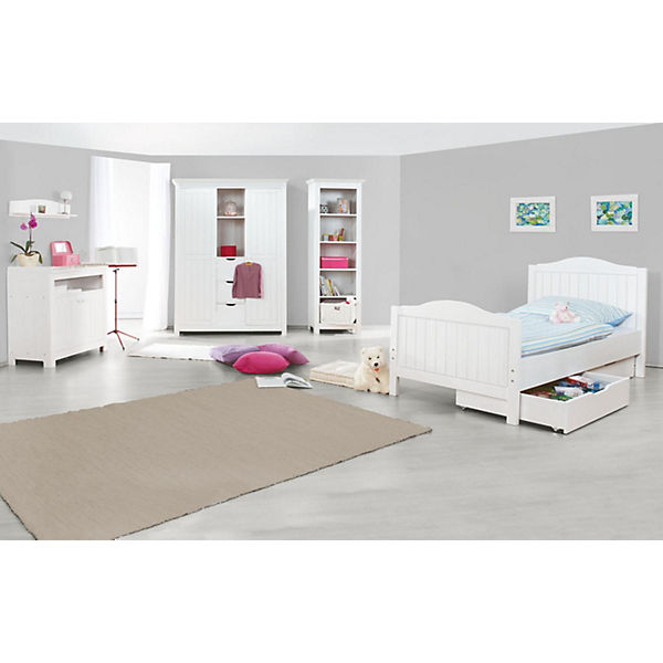 komplett jugendzimmer nina gro 3 tlg jugendbett kommode und gro er 2 t riger kleiderschrank. Black Bedroom Furniture Sets. Home Design Ideas