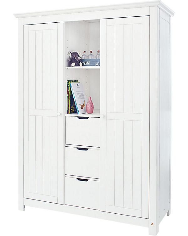Kleiderschrank NINA, massiv/Weiß lasiert, Pinolino | myToys