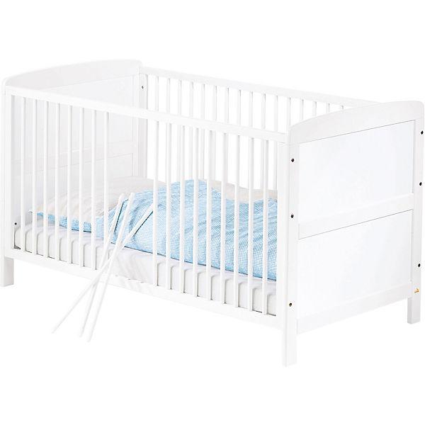 Kinderbett Viktoria Buche Teilmiv Weiß 70 X 140 Cm Pinolino