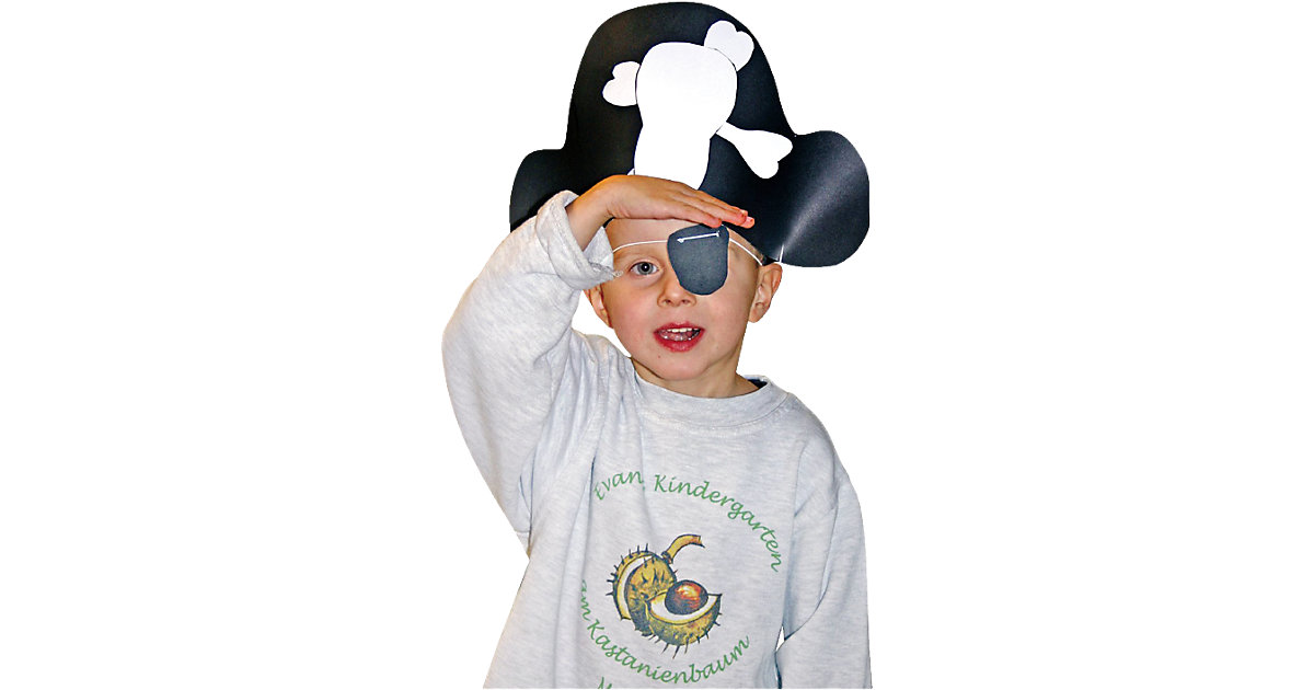 Party-Bastelset Piratenhüte & Augenklappen für 8 Kinder Jungen Kinder