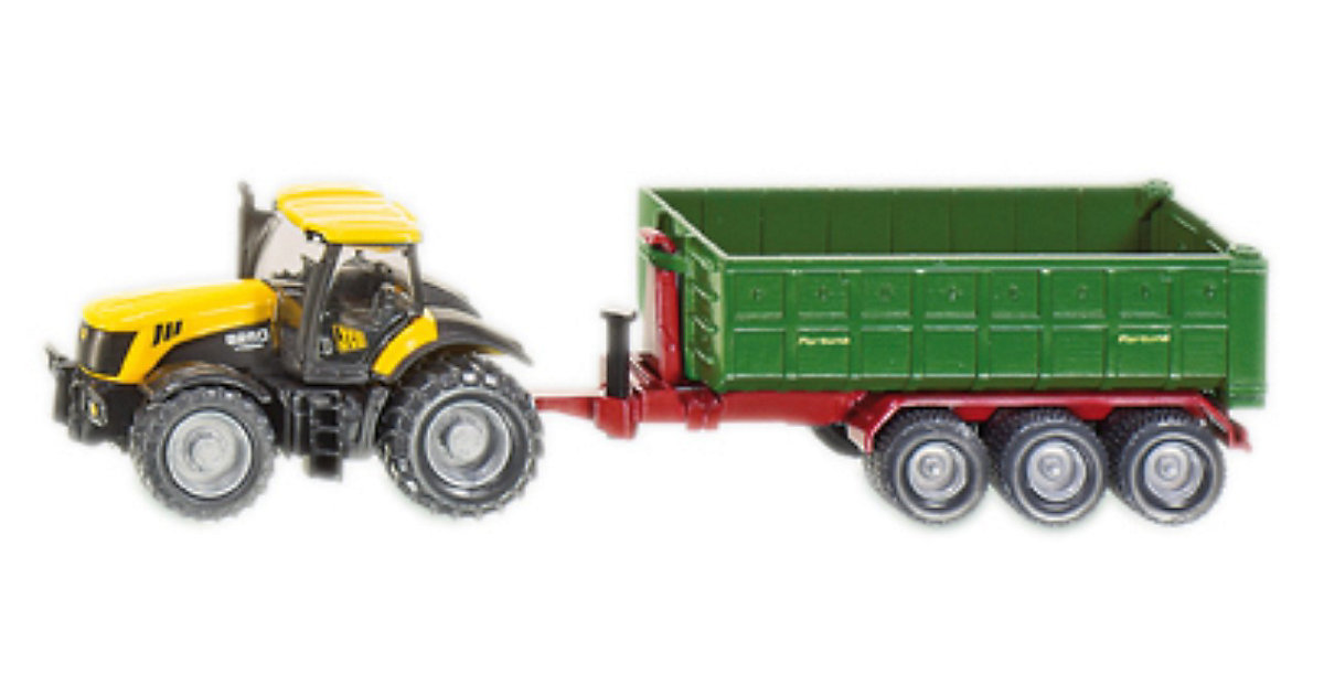 SIKU 1855 JCB Traktor mit Hakenliftmodule 1:87