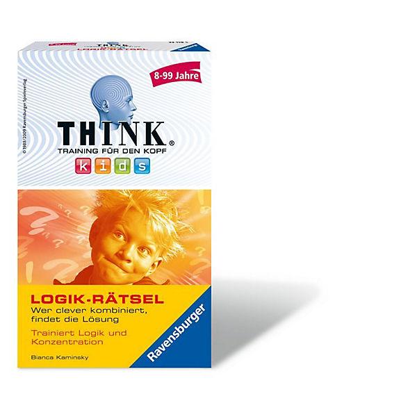 Mitbringspiel Think® Think® Mitbringspiel Kids: Logik-Rätsel, Ravensburger f53364