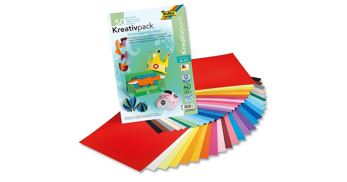 Kombipack XL Tonpapier/Fotokarton 23 x 33 cm, 50 Blatt