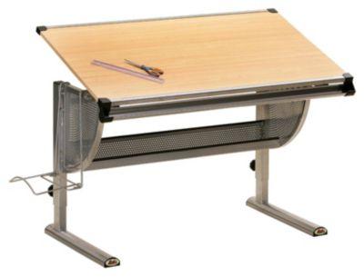 Kinderschreibtisch kettler  Schreibtisch Cool Top II, höhenverstellbar, Ahorn/silberfarbig ...