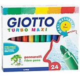 Утолщенные фломастеры Giotto на водной основе, 24 шт