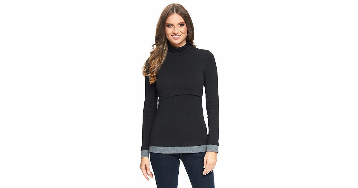 Still-Shirt Mailin Stillshirts schwarz/grau Gr. 48/50 Damen Erwachsene