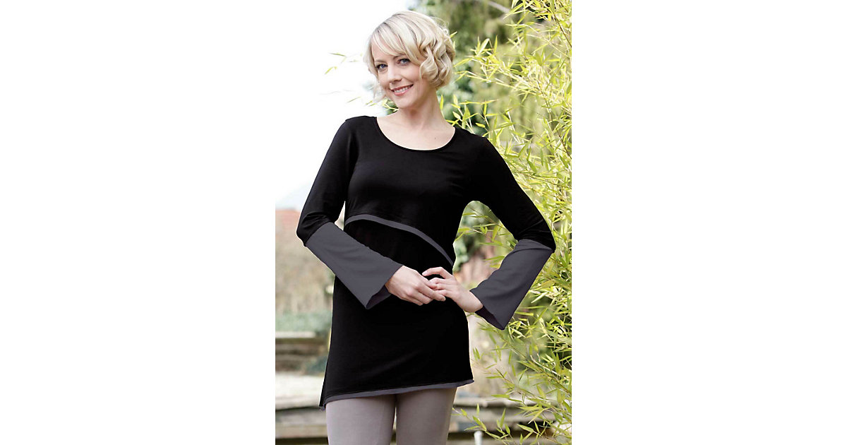 Stillshirt Luna Stillshirts schwarz/grau Gr. 36/38 Damen Erwachsene