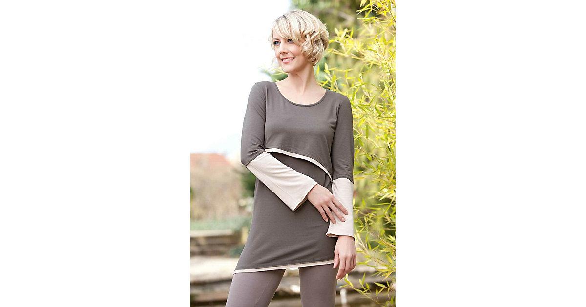 Stillshirt Luna Stillshirts khaki/ecru Gr. 36/38 Damen Erwachsene
