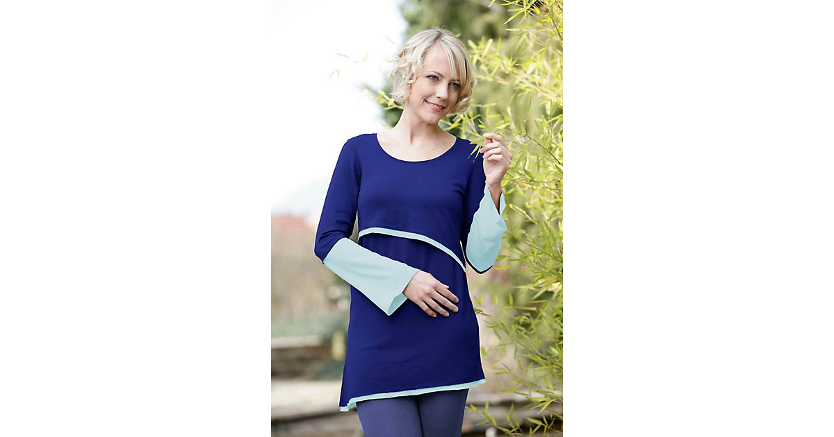 Stillshirt Luna Stillshirts blau-kombi Gr. 36/38 Damen Erwachsene