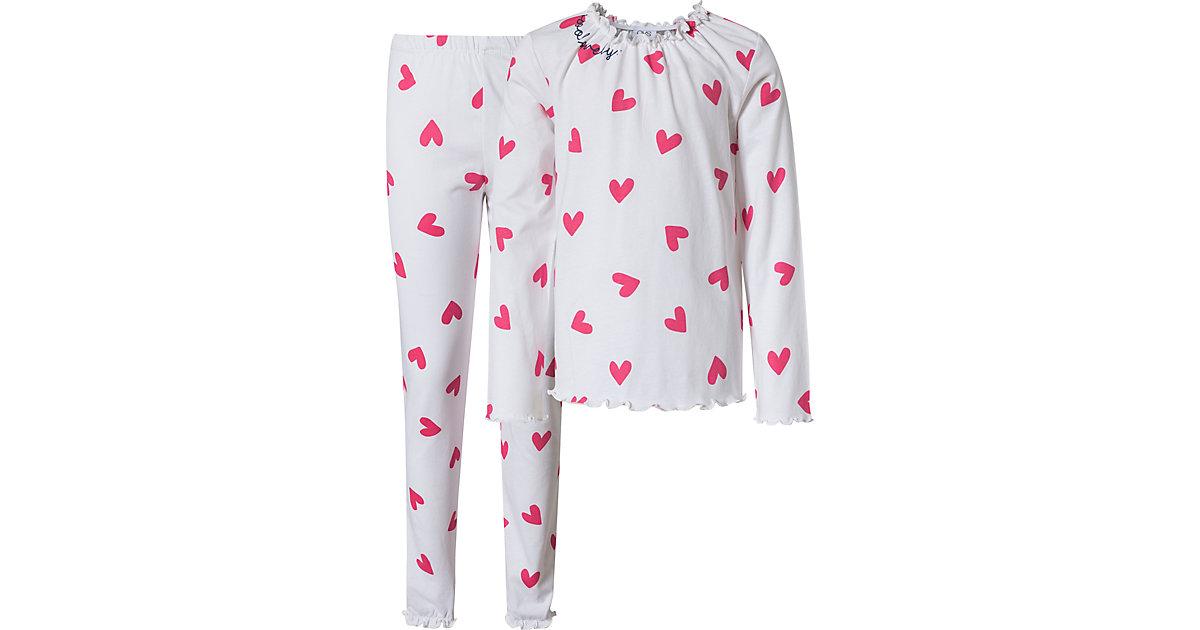 Schlafanzug  weiß Gr. 104 Mädchen Kleinkinder