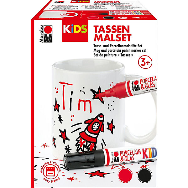 KiDS Porcelain & Glas Painter - Tassen-Set TIM