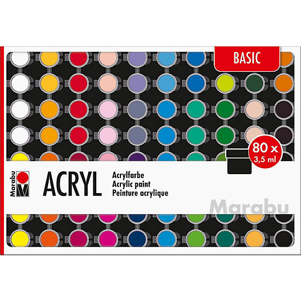 Acrylfarben Set BASIC, 80 x 3,5 ml